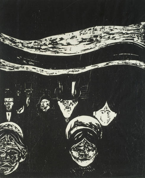 Wall Art - Relief - Anxiety by Edvard Munch