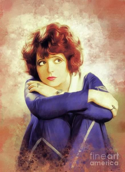 Wall Art - Painting - Clara Bow, Vintage Movie Star by John Springfield