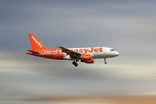 Wall Art - Mixed Media - Easyjet Unicef Livery Airbus A319-111 by Smart Aviation
