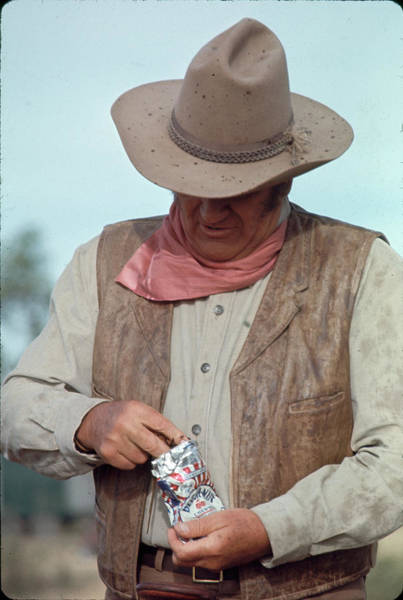 Photograph - John Wayne by John Dominis