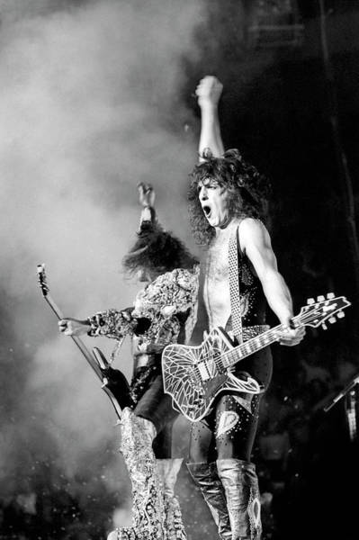 Photograph - Kiss Performing by Michael Ochs Archives