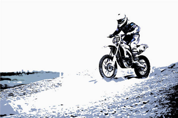 Wall Art - Painting - Motocross by Black Gryphon