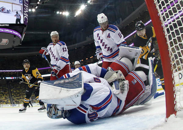 Nhl Photograph - New York Rangers V Pittsburgh Penguins by Justin K. Aller