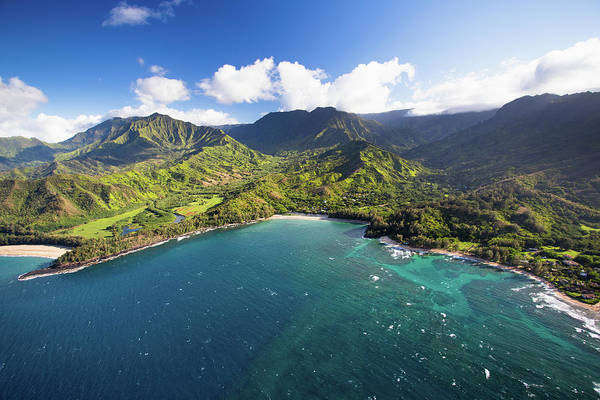 Bay Of Green Bay Wall Art - Photograph - Scenic Aerial Views Of Kauai From Above by Matthew Micah Wright