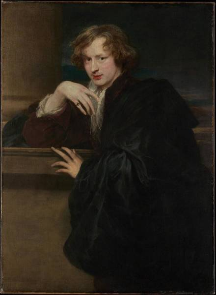 Wall Art - Painting - Self Portrait  by Anthony van Dyck