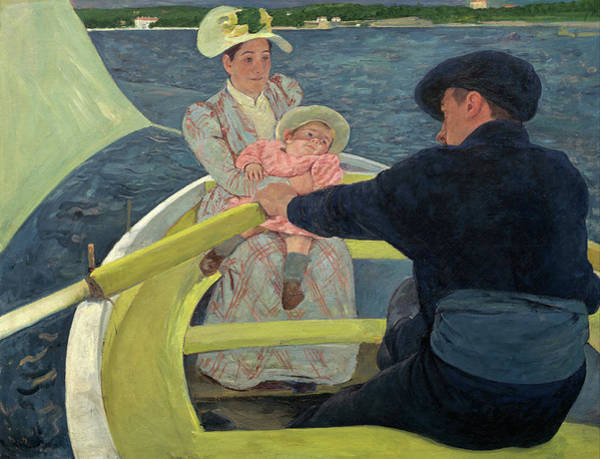 Wall Art - Painting - The Boating Party by Mary Cassatt