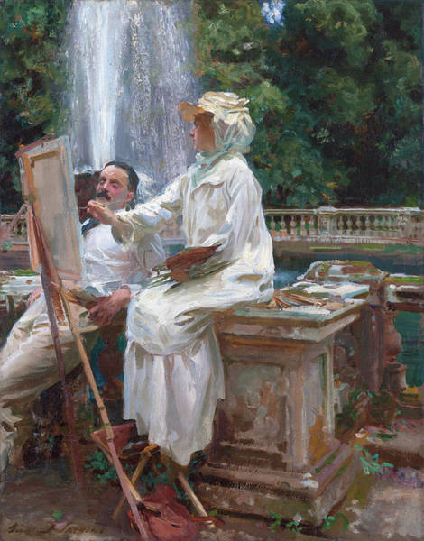 Wall Art - Painting - The Fountain, Villa Torlonia, Frascati, Italy by John Singer Sargent