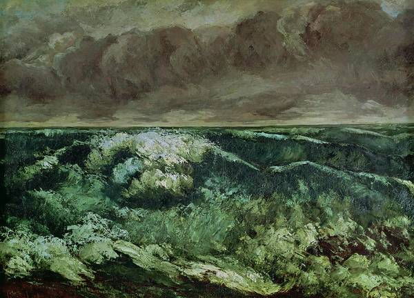Wall Art - Painting - The Wave by Gustave Courbet
