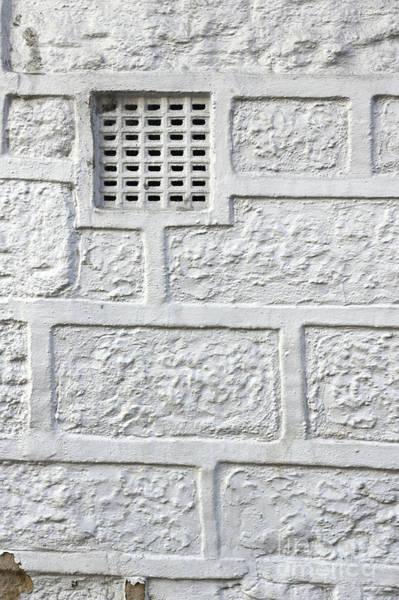Wall Art - Photograph - White Brick Wall by Tom Gowanlock