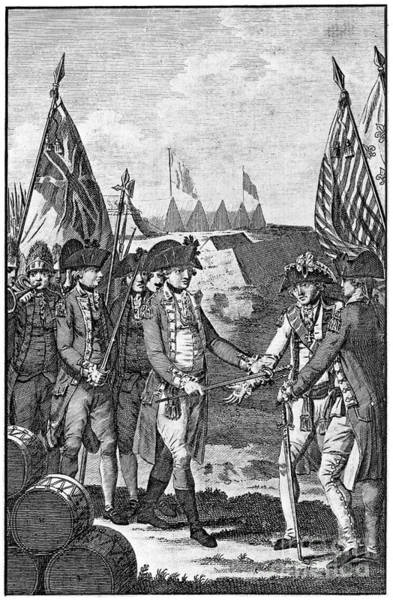 Wall Art - Drawing - Yorktown Surrender, 1781 by Granger