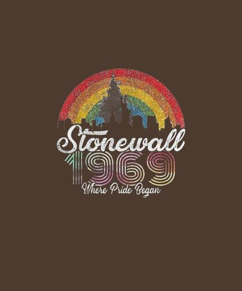Wall Art - Digital Art - 90's Style Stonewall Riots 50th Nyc Gay Pride Lbgtq Rights by Unique Tees