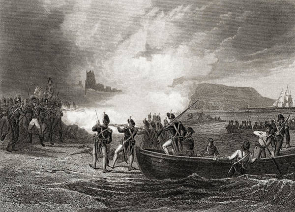 Wall Art - Drawing - The Landing Of The French In Bantry Bay, County Cork, Ireland, 1796 by Ken Welsh