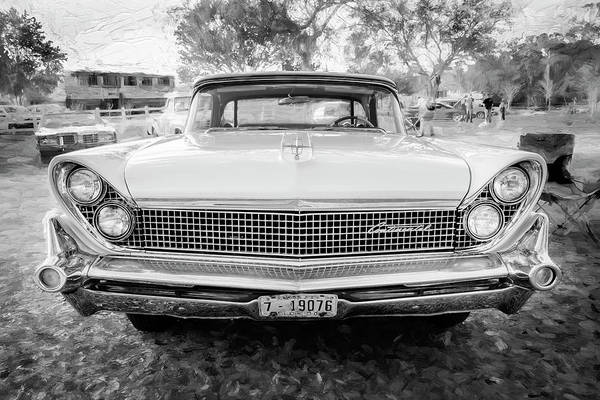 Wall Art - Photograph - 959 Lincoln Continental Town Car Mk Iv Bw 118 by Rich Franco