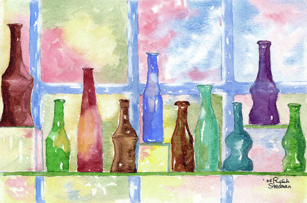 Painting - 99 Bottles by Rich Stedman