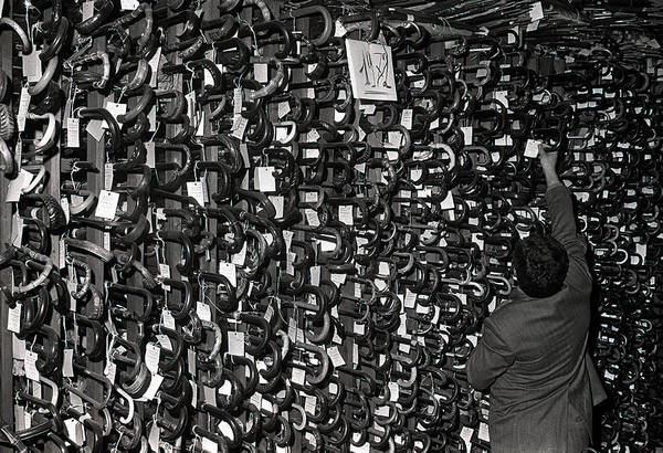 Public Places Wall Art - Photograph - 9th February, 1973 A Sea Of Umbrellas by Popperfoto