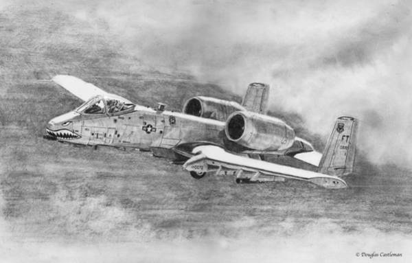 Drawing - A-10 Drawing by Douglas Castleman