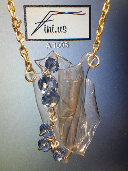 Jewelry - A 10035blue Crystal Pendant by Mary Russell