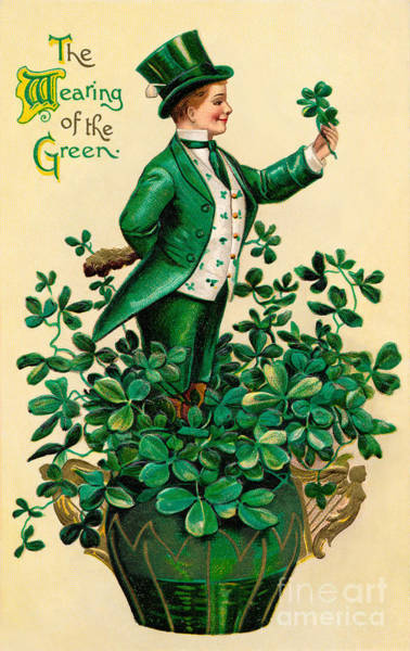 Irish Wall Art - Photograph - A 1910 Vintage St. Patricks Day by Victorian Traditions