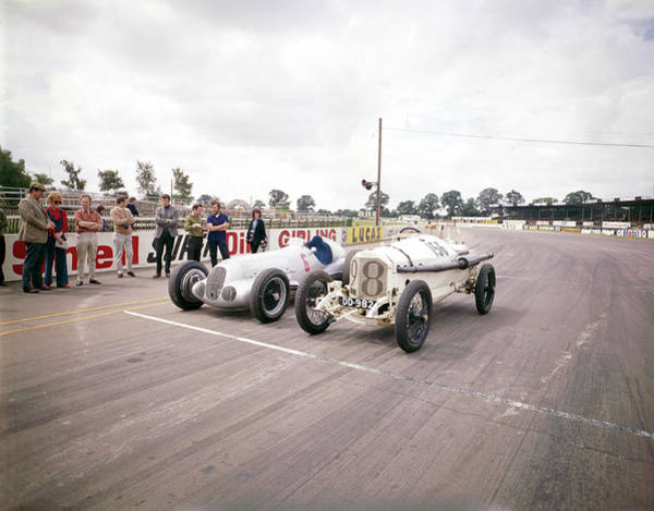 Motor Sport Photograph - A 1914 And 1937 Grand Prix Mercedes by Heritage Images