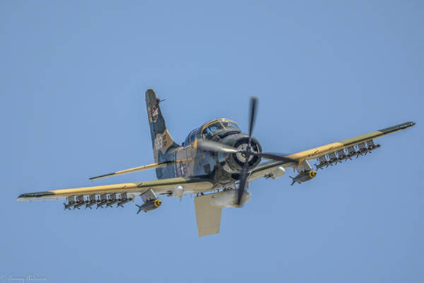 Wall Art - Photograph - A-1d Skyraider by Tommy Anderson