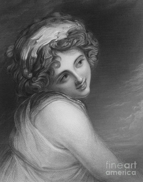 Wall Art - Drawing - A Bacchante, From The Picture In The Vernon Gallery by George Romney