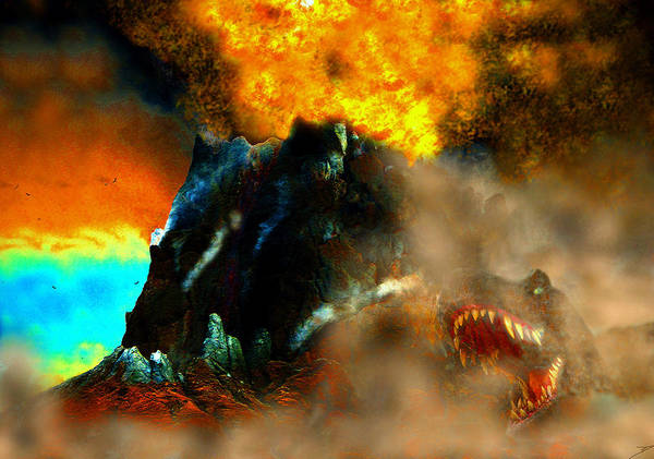 Wall Art - Painting - A Bad Day For T Rex by David Lee Thompson