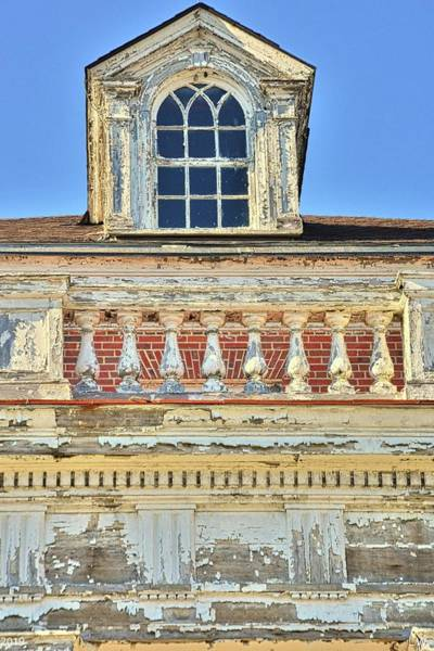 Photograph -  A Balcony And Window Vertical by Lisa Wooten