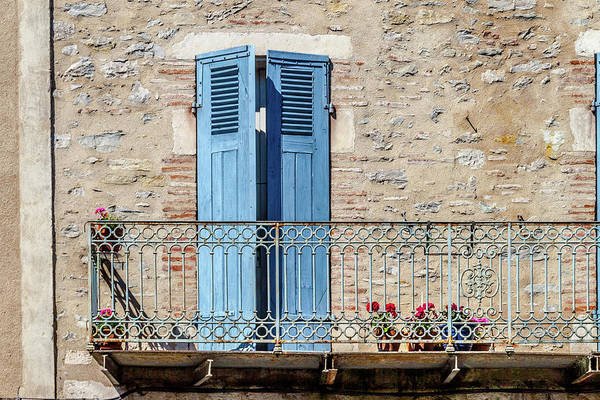 Wall Art - Photograph - A Balcony Door In Cahors France by W Chris Fooshee