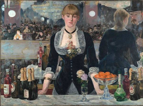 Wall Art - Painting - A Bar At The Folies-bergere,  Edouard Manet by Celestial Images