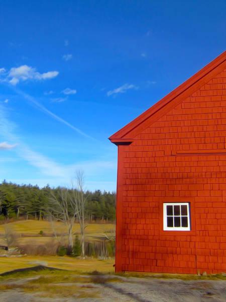 Wall Art - Photograph - A Barn Of Wyeth Red by Elizabeth Tillar