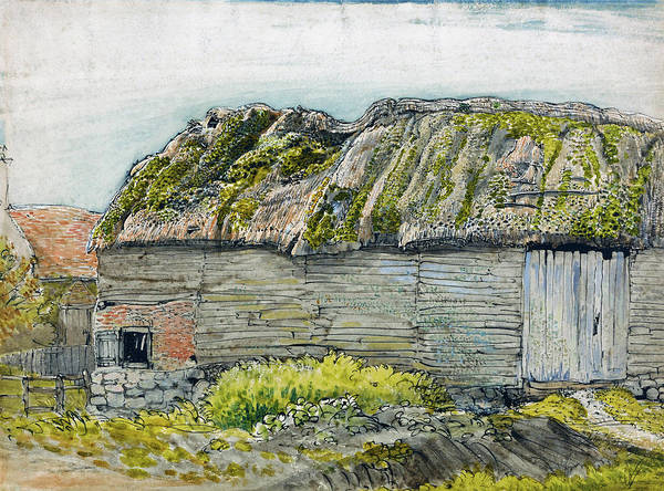 Wall Art - Painting - A Barn With A Mossy Roof, Shoreham - Digital Remastered Edition by Samuel Palmer