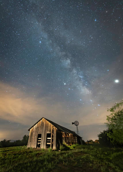 Photograph - A Barn's Glow by Laura Hedien