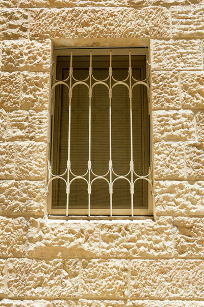 Photograph - A Barred Window In The Jewish Quarter Of The Old City, Jerusalem by William Kuta