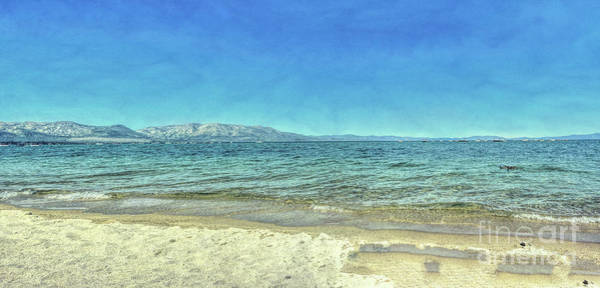 Digital Art - A Beach In Lake Tahoe by Joe Lach