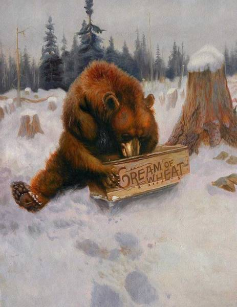 Wall Art - Painting - A Bear Chance Philip Goodwin by Celestial Images