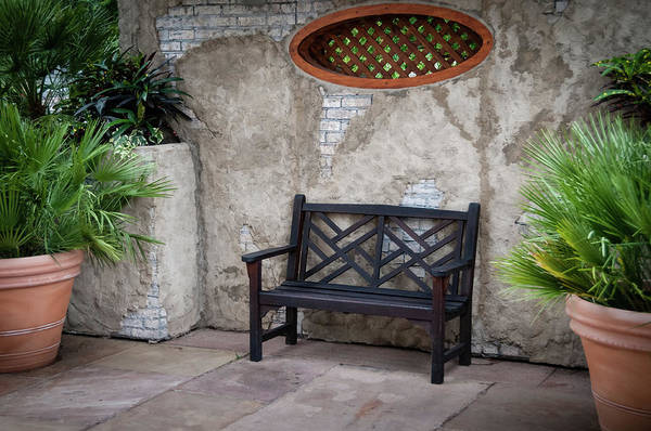 Photograph - A Bench Beside The Gardens by Todd Henson