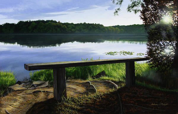 Painting - A Bench To Ponder by Anthony J Padgett