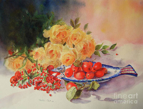 Painting - A Berry Or Two, Watercolour Still Life by Beatrice Cloake