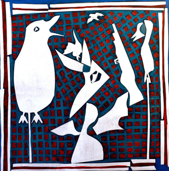 Painting - A Bird Hunting Birds 3 by Artist Dot