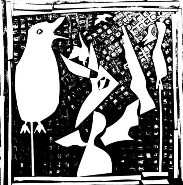 Digital Art - A Bird Hunting Birds 4 by Artist Dot