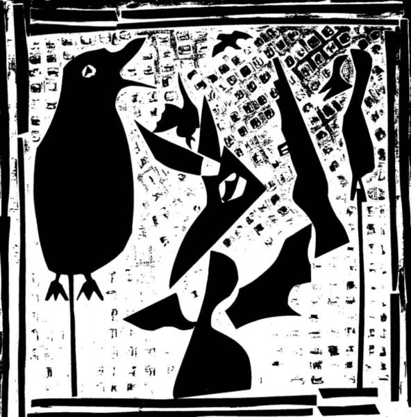 Digital Art - A Bird Hunting Birds 5 by Artist Dot