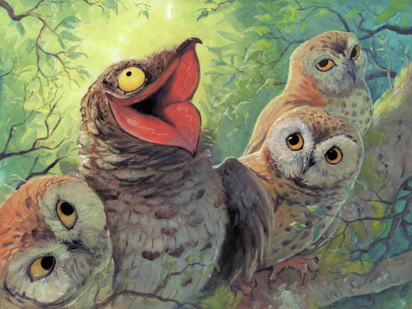 Owl Painting - A Bird In This World by Jaimie Whitbread