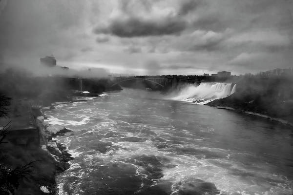 Photograph - A Black And White View Of Niagria Falls by Sven Brogren