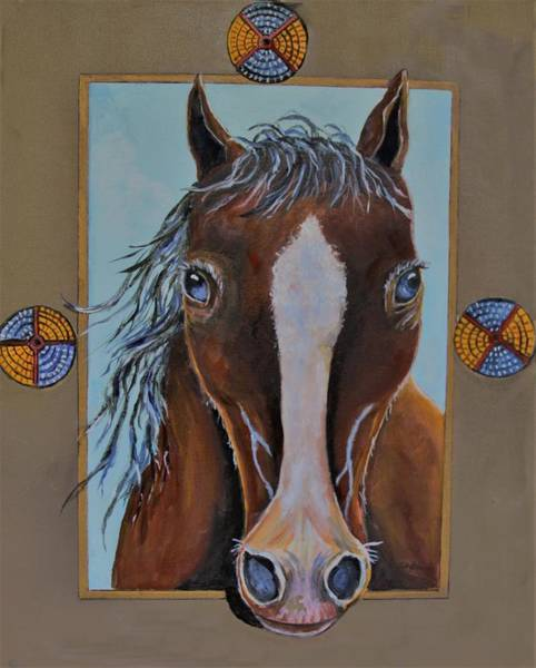 Painting - A Blue Eyed Horse by Philip Bracco