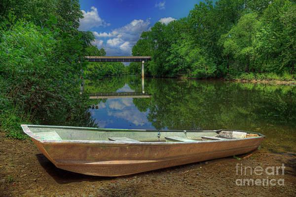 Wall Art - Photograph - A Boat Lies Waiting  by Larry Braun
