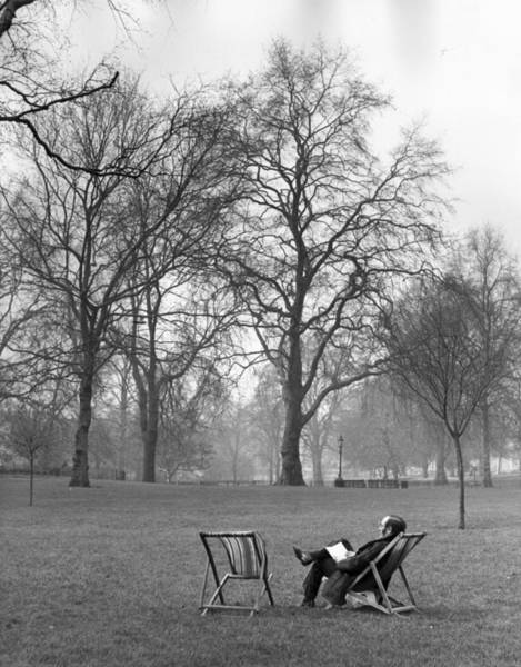 1974 Photograph - A Book In The Park by P Wade