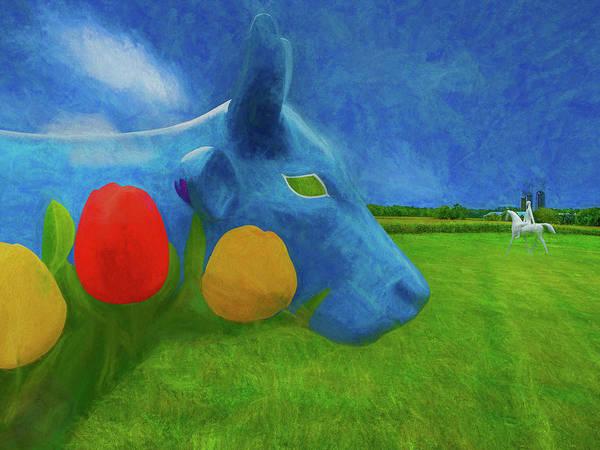 Photograph - A Bovine's Dream by Paul Wear
