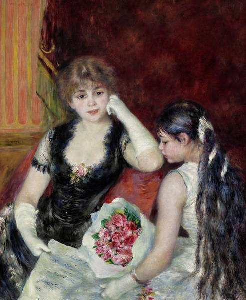 Wall Art - Painting - A Box At The Theater, At The Concert, 1880 by Pierre-Auguste Renoir