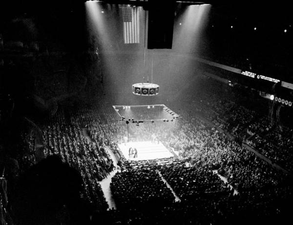 Madison Square Garden Photograph - A Boxing Crowd At Madison Square by New York Daily News Archive