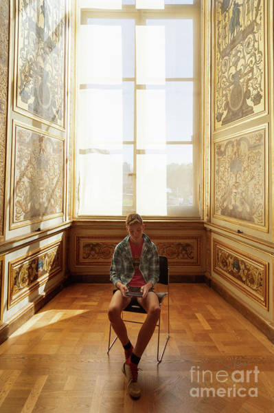 Photograph - A Boy At The Louvre by Craig J Satterlee
